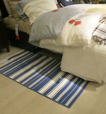 IKEA ALSLEV Bold STRIPES Area Throw RUG Runner Floor Mat REVERSIBLE Swedish