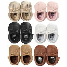 Baby Girl Boy Tassel Soft Sole Crib Shoes Trainers Sneakers Newborn to 18 Months