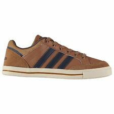 adidas Mens Gents Cacity Leather Laces Fastened Low Trainers Shoes Footwear