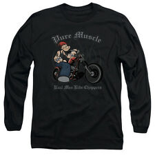 Popeye The Sailor Man Cartoon Character Pure Muscle Adult Long Sleeve T Shirt