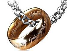 8mm Gold Plated 316L Stainless steel LOTR The one Ring Man's Rings w/ Free Chain