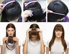 Straight Front Bangs Fringe Piece Clip In Hair Extensions Remy style Real LK