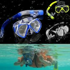 Silicone Scuba Diving Mask Snorkel Glasses Set Anti Fog Goggles Snorkel AN1801