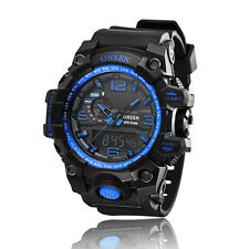 OHSEN Fitness For Mens Womens Analog Digital Time Quartz Rubber Wrist Watch