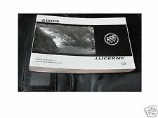 2009 BUICK LUCERNE SUPER USA CANADA New OWNERS MANUAL Book LEATHER CASE ENGLISH