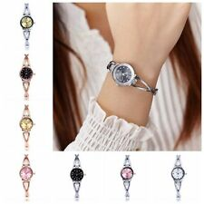 Bracelet Analog Wrist Watches Round Quartz Rhinestone