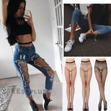 Women Ladies Fishnet Tights Net One Size Pattern Burlesque Hoise Black Pantyhose