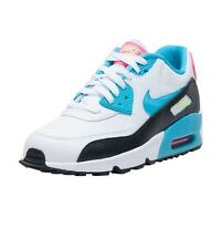 Nike Air Max 90 LTR (GS) Youth Size White Blue Black Pink Sneaker 833376 104