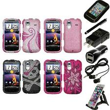 For HTC Amaze 4G Diamond Diamante Bling Rhinestone Case Cover Accessories