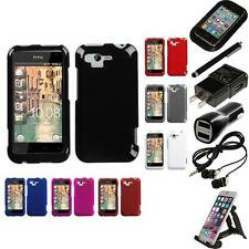 For HTC Rhyme / Bliss Rigid Plastic Hard Snap-On Case Phone Cover Accessories