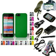 For Apple iPhone 5 Matte Snap-On Hard Phone Case Cover + Bundle