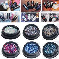 Mix 3D Nail Art Rhinestones Crystals Acrylic Tips Decoration Manicure Wheel DIY