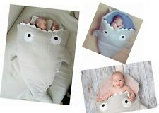 6 Colors Baby Sleeping Bag Shark Whale Swaddle Blanket Stroller Wrap Sleep Sack