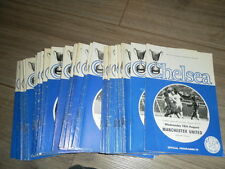 CHELSEA HOME PROGRAMMES FROM 1971 - 3 - CHOOSE FROM LIST + BOBBY CHARLTONS LAST