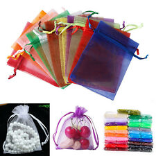 100pcs 5x7cm Organza Sheer Wedding Party Favour Gift Bags Candy Jewellery Pouch