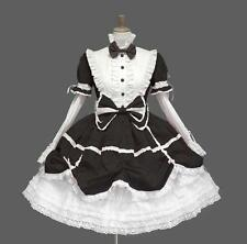 Ladies Sweet Multiple Color Short Sleeve Layered Bow Cotton Lolita Cosplay Dress