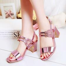 2017 Womens Fashion Buckle Belt Sandals Wedding High Heels Open Toe Shoes Pumps