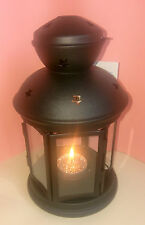 Ikea Rotera Black Lantern Tealight Holder With Sparkly Scented Tealight