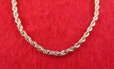 """14KT GOLD EP NECKLACE WITH 7"""" BRACELET SET OF  2.5MM  ROPE FRENCH STYLE CHAIN"""