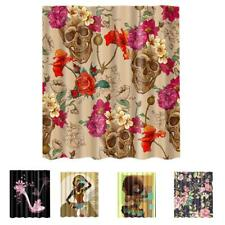 Extra Long Fabric Bath Shower Curtain Sheer With 12 Hooks Ring 20 Types
