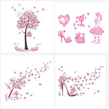 CHERRY BLOSSOM TREE Wall Stickers Art Decal Home Decor Flower Butterfly PINK