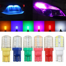 24-SMD T10 168 194 3014 LED Bulbs For Car License Plate Number Lights Blue Red