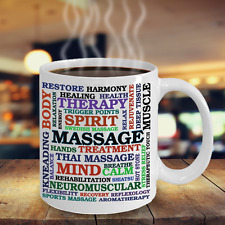 Massage Related Words - Coffee Mug Massage Therapists, Bodyworkers, gifts