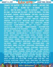 (2) Lollapalooza Chicago 2017 4-day Pass plus Commemorative Credential