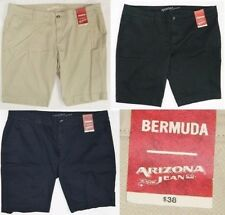 NEW Jr. Arizona Jean Co. Bermuda Shorts flat front khaki stretch NWT