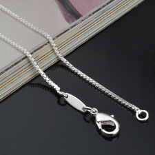 Genuine Solid 925 Silver Sterling Plated Box Chain 1.4mm Classic New Necklace