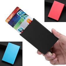NEW! Luxury Men's Luxury Slim Aluminum Business Name Credit ID Card Holder Case