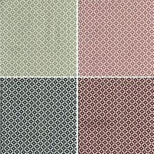 Pin Point Polka Dots In Squares Linen Look Cotton Fabric Patchwork