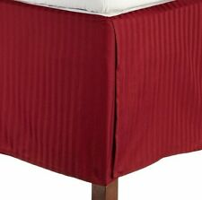 1 Qty Bed Skirt/Valance 1000 TC Egyptian Cotton 35 Drop ~AU Burgundy Stripe