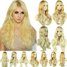 Half Wigs Long Synthetic Hair 3/4 Full Wig Curly Straight Wavy Fancy Dress Blond