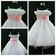 Kids Communion Christening Bridesmaid Flower Girls Dresses SIZE 1-2-3-4-6-8-10Y