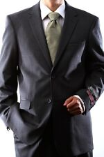 MENS 2 BUTTON SUPER 120S WOOL GRAY SUIT FLAT FRONT, 40312N-40394-GRE