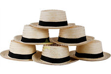 LOT BUDGET STRAW BOATER HATS ADULTS EASTER BONNET SAILOR BARBERSHOP ACCESSORY