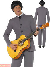 Mens 60s Beatles Costume Adults Fab Four Iconic Fancy Dress 1960s Music Outfit