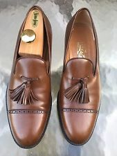 $695 Sz 10D SALVATORE FERRAGAMO Calfskin Leather Dress Shoes Tassels LOAFERS