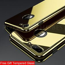 Hybrid Mirror 360° Slim Hard Shell Tempered Glass Cover For iPhone 6 7 Plus Case