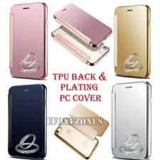 Clear Back Plating PC TPU Silicone Transparent Case Cover for iPhone 6 7 7 Plus