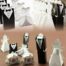 Tuxedo Dress Groom Bridal Wedding Party Favor Gifts Ribbon Candy Boxes Ornaments