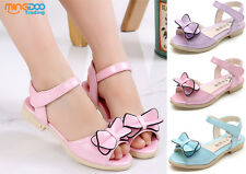 New Youth Children Girls Summer Sandals Kids Students Open Toe Shoes Size 8-2