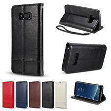 Leather Wallet Card Case Magnetic Flip Cover Stand For Samsung Galaxy S8/S8 Plus