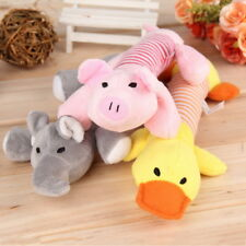 Pet Toys Puppy Chew Squeaker Squeaky Plush Sound Pig Elephant Duck For Dog EH