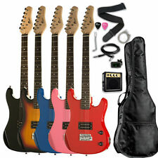 "36"" Kids 3/4 Size Electric Guitar Package with Amp Bag Cable Whammy Bar Picks"