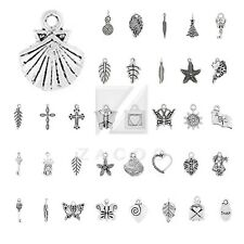 20-200pcs Antique Tibetan Silver Spacer Pendant Charm Jewelry Findings 40 Style