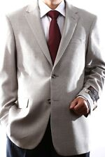 MENS TWO BUTTON SUPER 140S WOOL STONE COLOR SPORT COAT, J44912S-914-STO