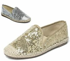 Ladies Flats Womens Espadrilles Girls Slip On Pumps Beach Plimsoles Shoes Size