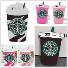 3D Starbucks Drink For iPhone Samsung Series Rubber Gel Silicone Soft Case Cover